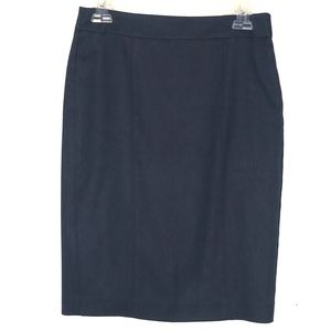ANN TAYLOR NAVY BLUE CAREER PENCIL SKIRT
